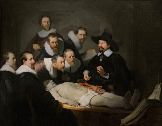 Rembrandt. Lección de anatomía del Dr. Nicolaes Tulp