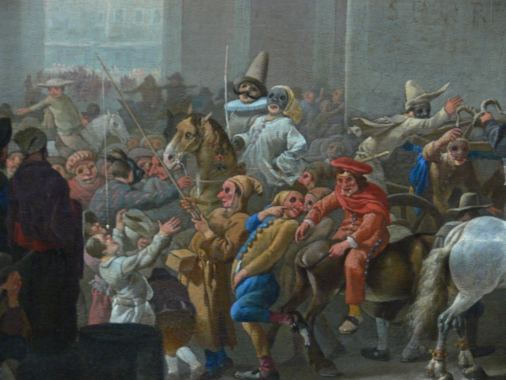 Carnevale a Roma, olio su tela di Johannes Lingelbach.